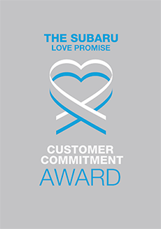 The 2018 Subaru Love Promise Customer Commitment Award